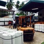 loading a virgin coconut oil shipment